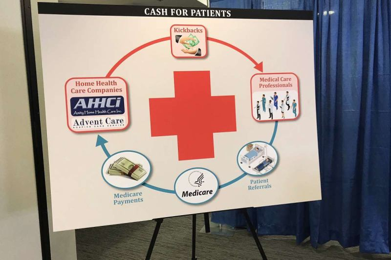 DOJ Charges Amity Home Health Care, Advent Care, Amity's CEO, Medical Professionals, and Marketers in Connection With $115 Million Bay Area Kickback Scheme